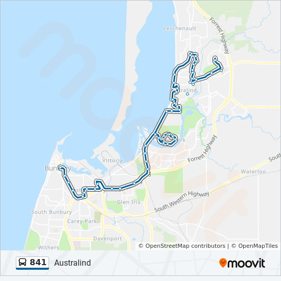 841 Route: Time Schedules, Stops & Maps - Australind