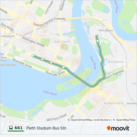 661 Route Time Schedules Stops Amp Maps Perth Stadium