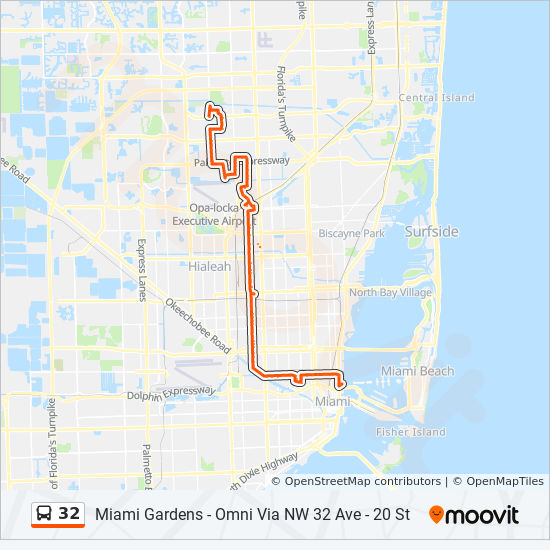 32 Route: Time Schedules, Stops & Maps - 32 - NW 34 St