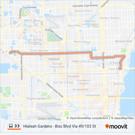 33 Route Time Schedules Stops Maps 33 Biscayne Blvd 79 St