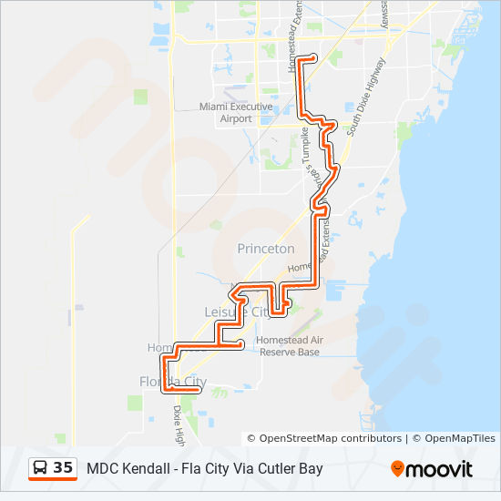 35 Route Time Schedules Stops Maps 35 Florida City Via