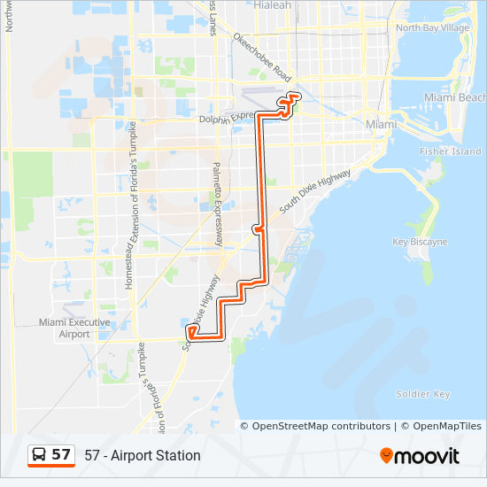 57 Route Time Schedules Stops Maps 57 Sw 152 St Us 1 - Us-map-miami