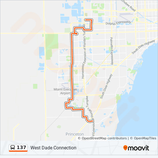 137 bus Line Map