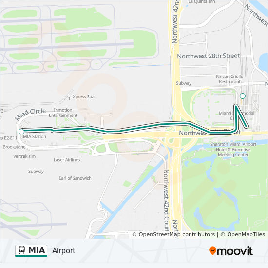 Mia Route Time Schedules Stops Amp Maps Airport