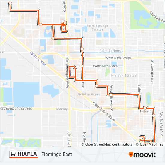 Hiafla Route Time Schedules Stops Maps Flamingo East