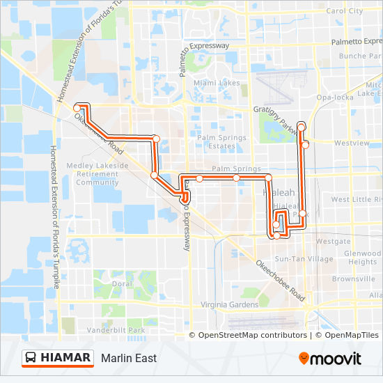 Hiamar Route Time Schedules Stops Amp Maps Marlin East