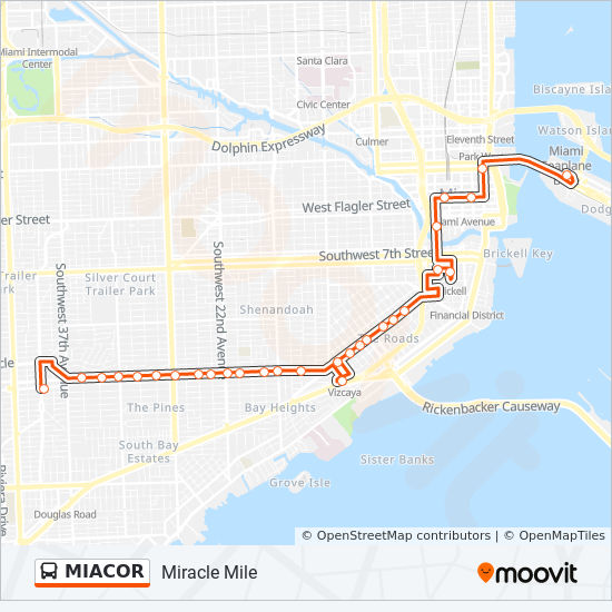 Miacor Route Time Schedules Stops Amp Maps Port Of Miami