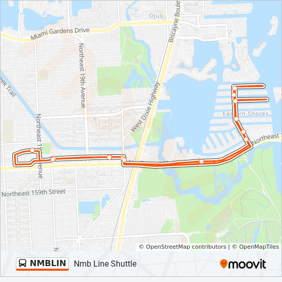 north miami beach map Nmblin Route Time Schedules Stops Maps Nmb Line Shuttle north miami beach map