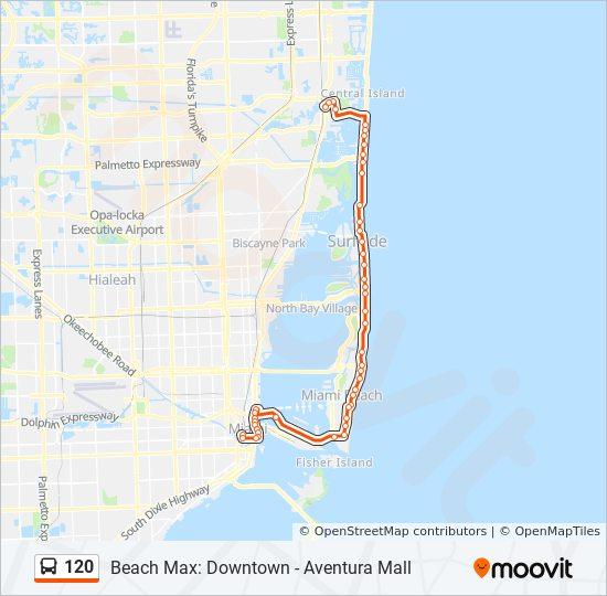 Karte Florida Miami.Linie 120 Fahrplane Haltestelle Karten 120 Max To