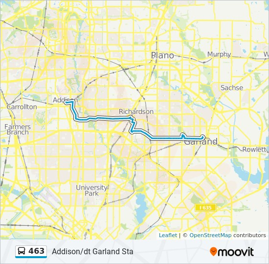 463 Route Time Schedules Stops Amp Maps East Downtown