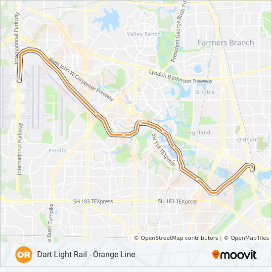 ORANGE Route: Time Schedules, Stops & Maps - Towards Plano on