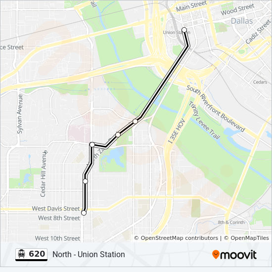 620 Route: Time Schedules, Stops & Maps - South - Bishop Arts on