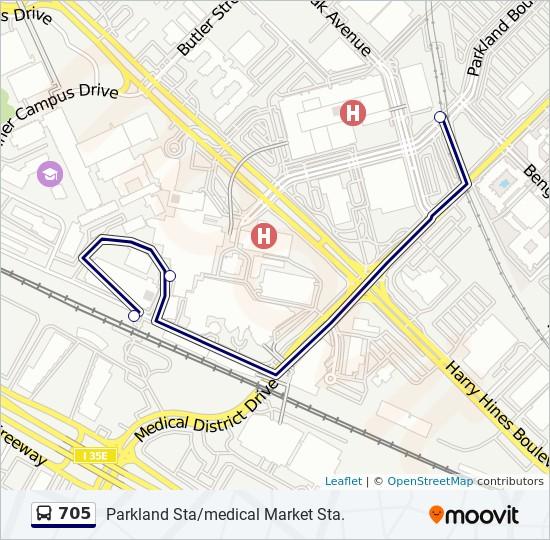 Parkland Campus Map.705 Route Time Schedules Stops Maps West Parkland Shuttle