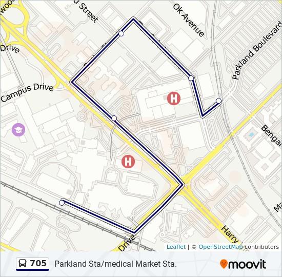 Parkland Campus Map.705 Route Time Schedules Stops Maps East Parkland Shuttle