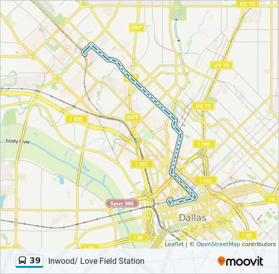39 Route: Time Schedules, Stops & Maps - South - Downtown Dallas on
