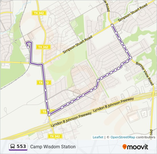 Camp Johnson Map on