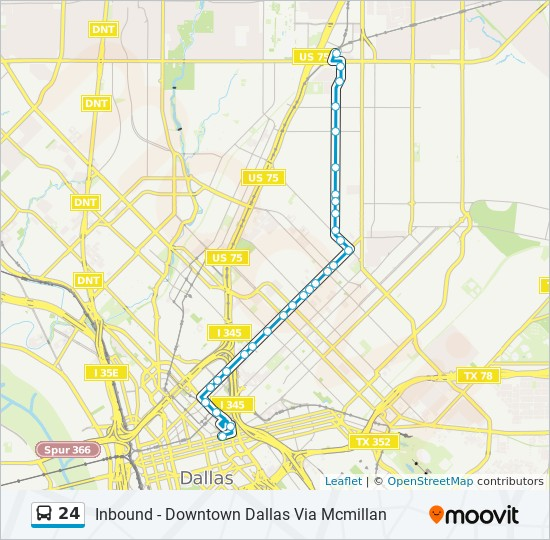 24 route time schedules stops maps