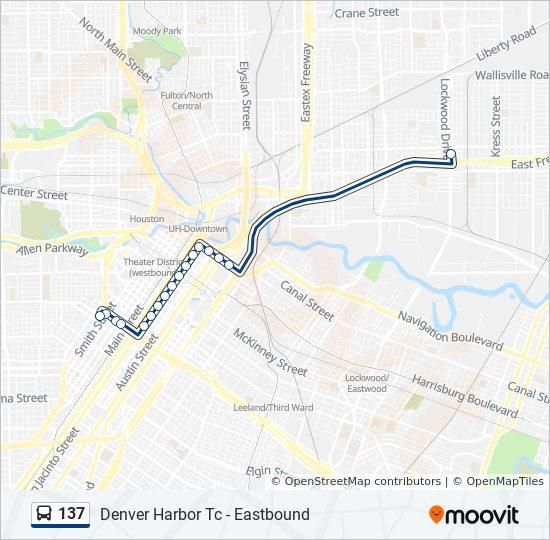 137 Route Time Schedules Stops Amp Maps Denver Harbor Tc