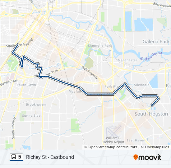 5 Bus Line Map