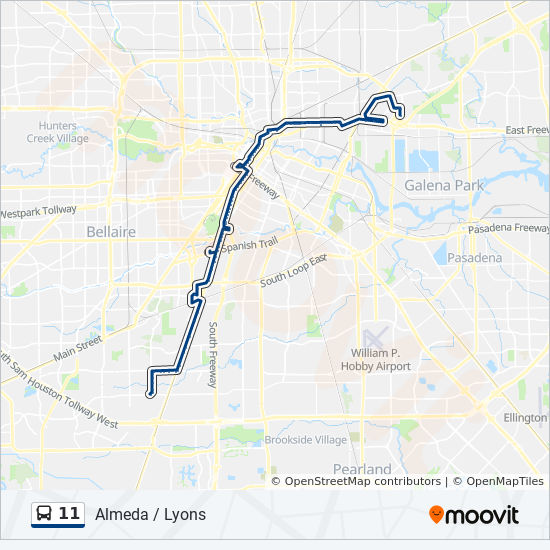 11 Route: Time Schedules, Stops & Maps - Gellhorn & 610