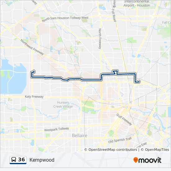 36 Route: Time Schedules, Stops & Maps - Northline Tc - Eastbound