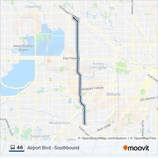 46 Route Time Schedules Stops Amp Maps Airport Blvd