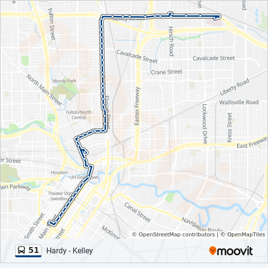51 Route Time Schedules Stops Amp Maps Downtown Tc