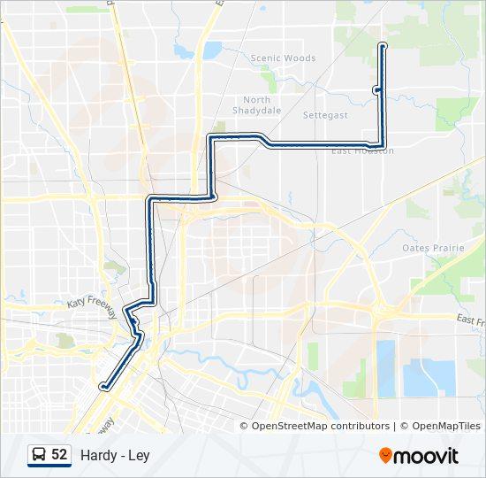 52 Bus Line Map