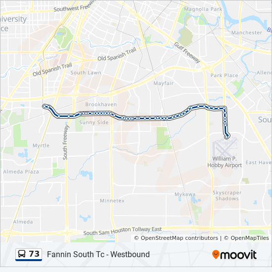 73 Route Time Schedules Stops Amp Maps Fannin South Tc