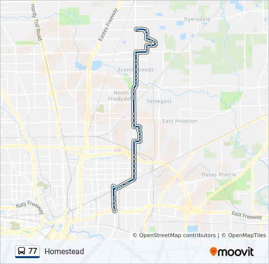 77 Bus Line Map