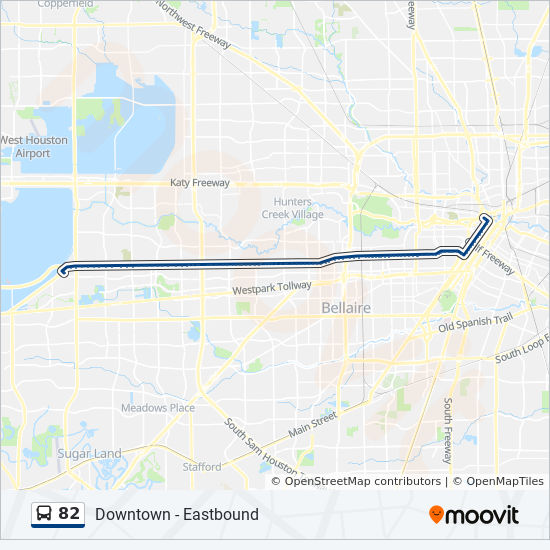 82 Route: Time Schedules, Stops & Maps - West Oaks Mall - Westbound