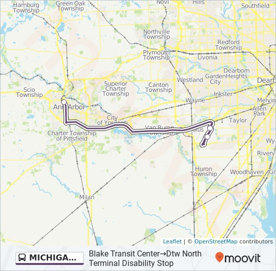 MICHIGAN FLYER Route: Time Schedules, Stops & Maps - Blake Transit ...