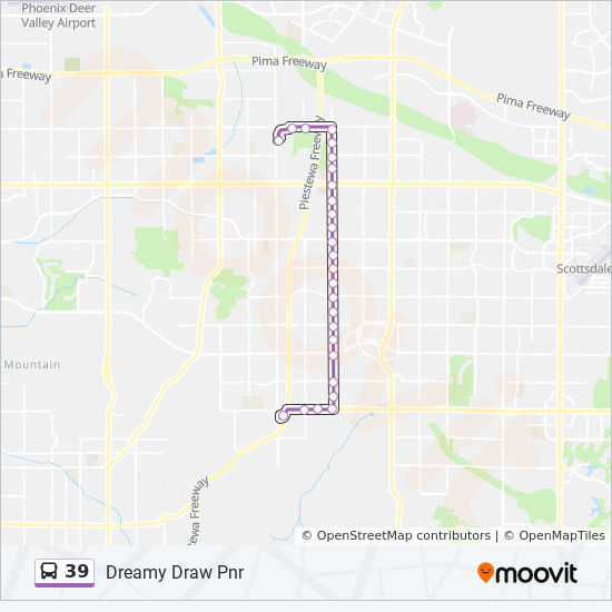 39 Route: Time Schedules, Stops & Maps - Dreamy Draw Pnr on