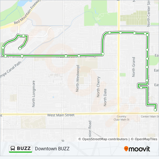 BUZZ Route: Time Schedules, Stops & Maps - Main St ...