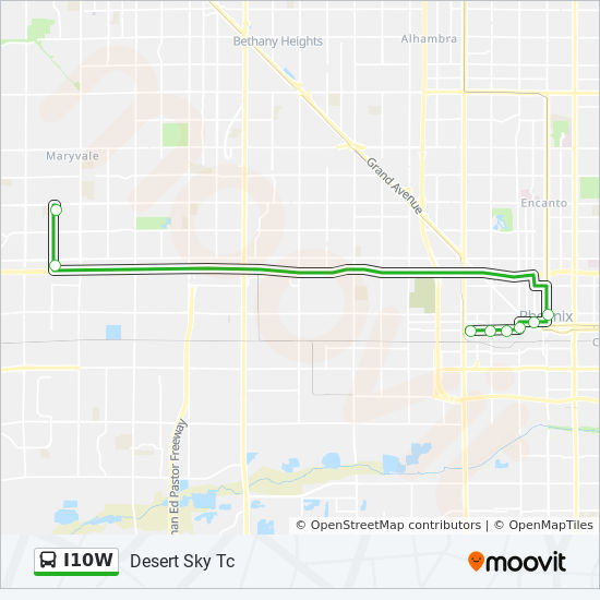 I10W Route: Time Schedules, Stops & Maps