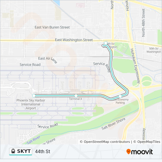 SKYT Route: Time Schedules, Stops & Maps - Airport Terminals