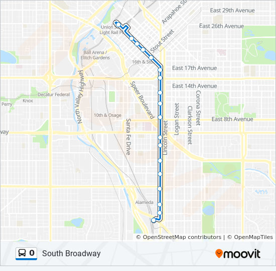 0 Bus Line Map