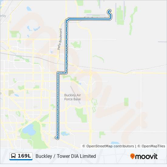 169l Route Time Schedules Stops Amp Maps Denver Airport