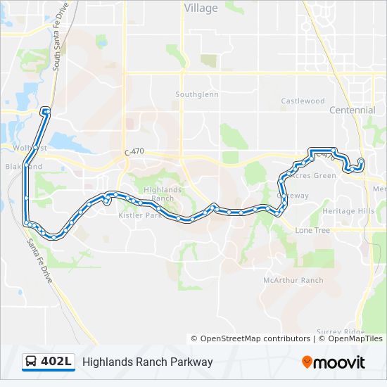 Highlands Ranch Quebec Accident: 402L Route: Time Schedules, Stops & Maps
