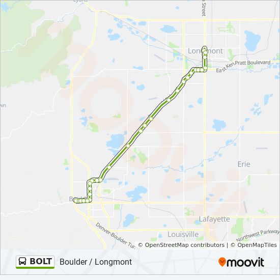 Bolt Route Time Schedules Stops Amp Maps Dtwn Boulder