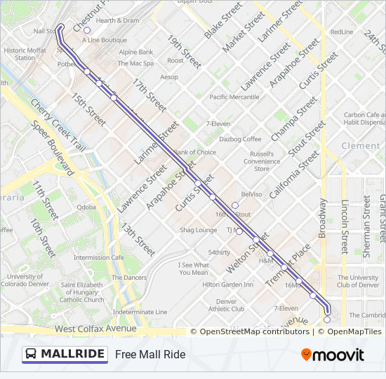 Mallride Bus Line Map