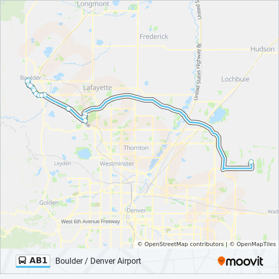 AB1 Route: Time Schedules, Stops & Maps - Denver Airport Via E-470