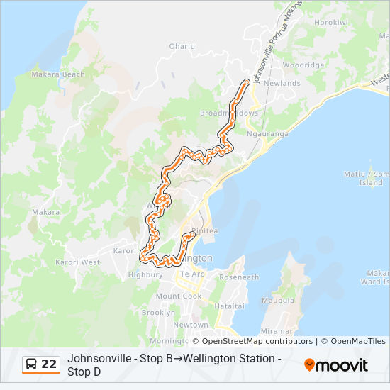 22 Route: Schedules, Stops & Maps - Wellington Station ...
