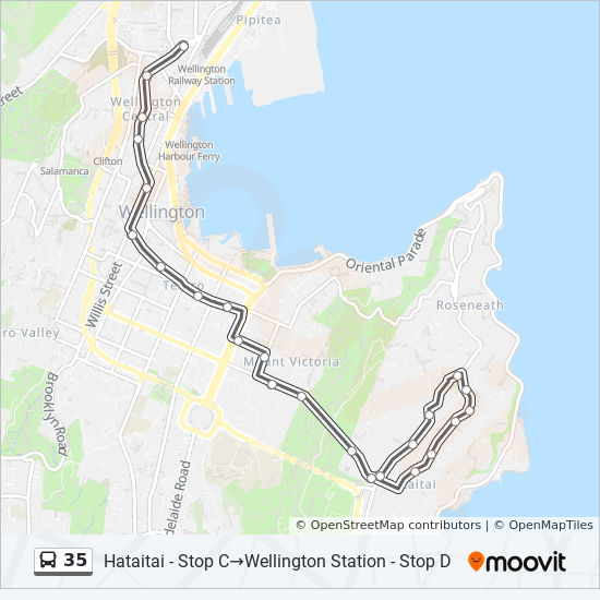 35 Route: Timetables, Stops & Maps