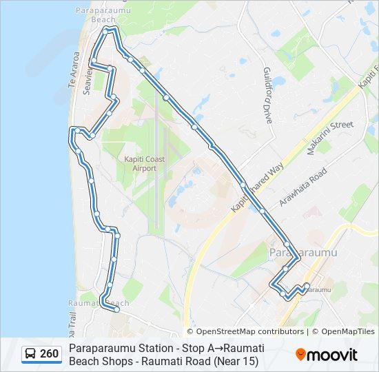 260 Route: Time Schedules, Stops & Maps - Paraparaumu Station - Stop on king county map, southland map, fiordland map, lake tekapo map, rotorua map, palmerston north map, milford sound map, kaikoura map, waikato map, cook strait map, invercargill map, hastings map, island map, cambridge map, queenstown map, banks peninsula map, napier map, lyttelton map, akaroa map, dunedin map,