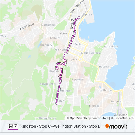7 Route: Schedules, Stops & Maps - Wellington Station - Stop ...