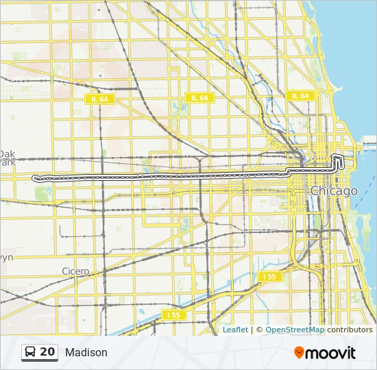 20 Route Time Schedules Stops Maps Eastbound Illinois Center