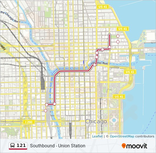 121 Route: Time Schedules, Stops & Maps - Southbound - Union Station