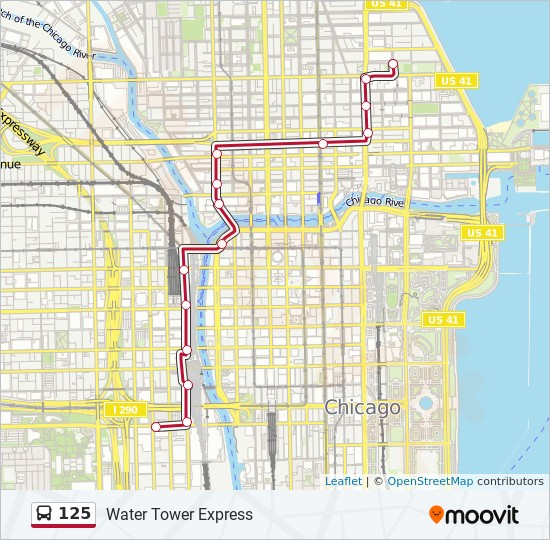 125 Route: Time Schedules, Stops & Maps - Northbound - Water