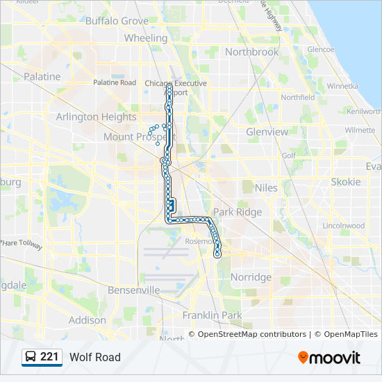 221 Route: Time Schedules, Stops & Maps - North